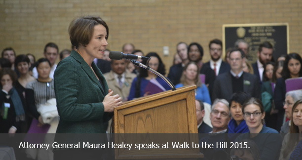 Attorney General Healey at Walk to the Hill