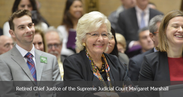 Retired Chief Justice of the Supreme Judicial Court Margaret Marshall