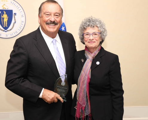 Rep. Ronald Mariano and Monica Halas