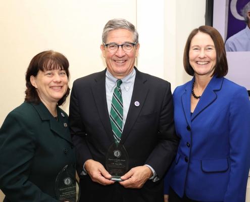 Rep. Tricia Farley-Bouvier, J.D. Smeallie, and Christine Netski