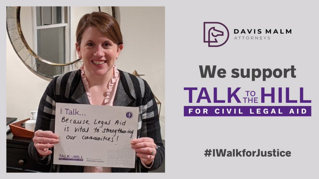 I talk because legal aid is vital to strengthening our communities