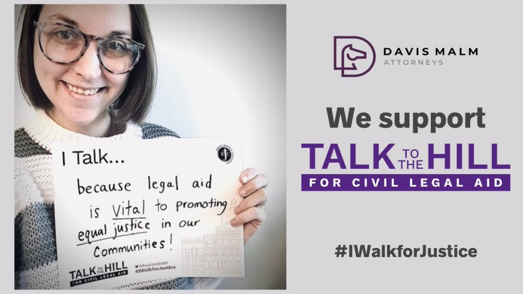 I talk because legal aid is vital to promoting equal justice in our communities