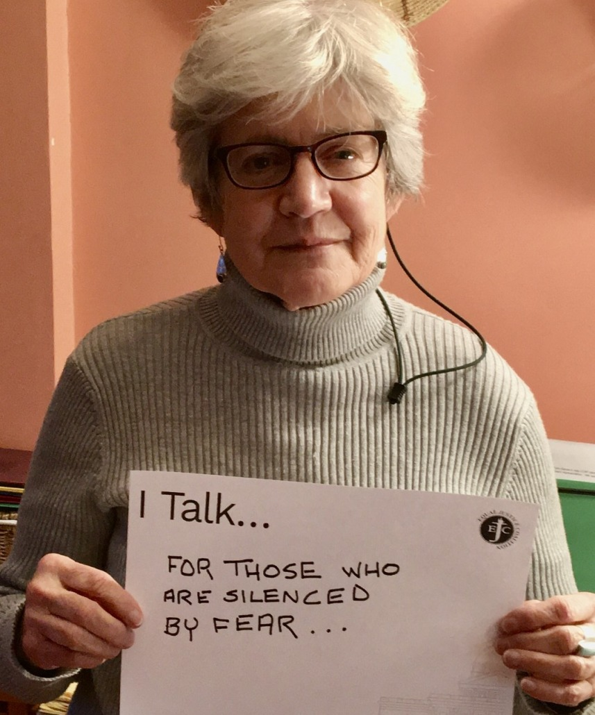 I talk for those who are silenced by fear