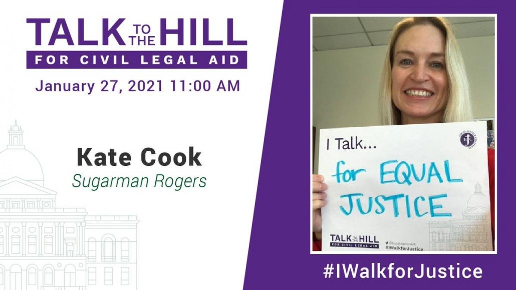 I talk for equal justice