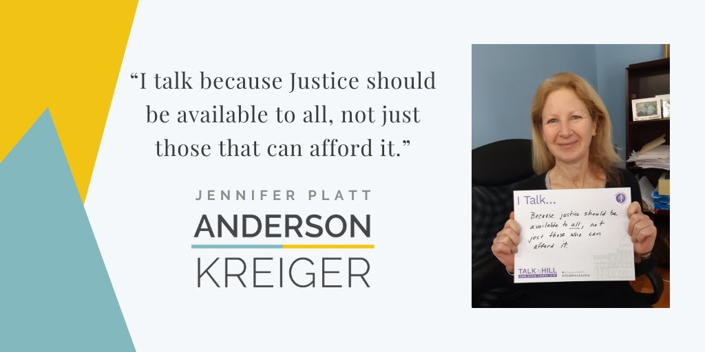 I talk because justice should be available toa ll, not just those that can afford it