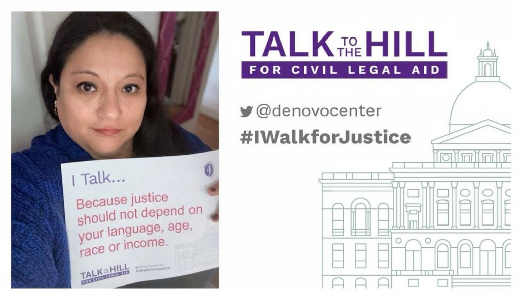 I talk because justice should not depend on your language, age, race or income.