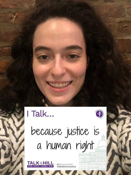 I talk because justice is a human right