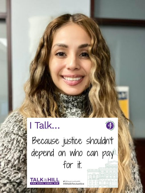 I talk because justice shouldn't depend on who can pay for it