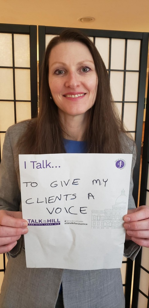 I talk to give my clients a voice